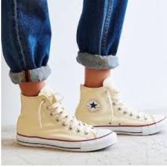 Converse Cream High Top Sneakers Chuck